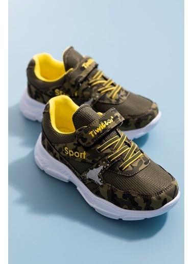 Tonny Black Haki Sarı Çocuk Spor Ayakkabı Tbz02 Haki